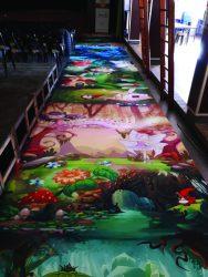 Printed carpet / Moquette imprimée
